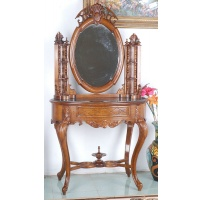 Indonesia furniture manufacturer and wholesaler Oval dressing table