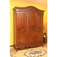 Indonesia furniture manufacturer and wholesaler Armoire leaf 3 doors knock down