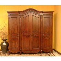 Indonesia furniture manufacturer and wholesaler Armoire  leaf 4 doors knock down