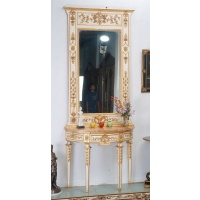 Indonesia furniture manufacturer and wholesaler Halcyon console and mirror