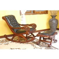 Indonesia furniture manufacturer and wholesaler Rocking chair + stool