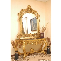 Indonesia furniture manufacturer and wholesaler Consol dormesus line with mirror and marble