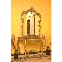 Indonesia furniture manufacturer and wholesaler Consol daniel + mirror with marble