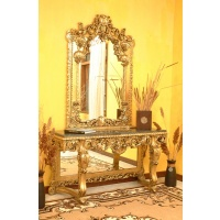Indonesia furniture manufacturer and wholesaler Consol napoleon + mirror with marble