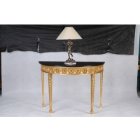 Indonesia furniture manufacturer and wholesaler Console sheraton half round top marble