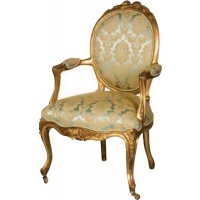 Indonesia furniture manufacturer and wholesaler Versailles Nursing Armchair Green Upholstery