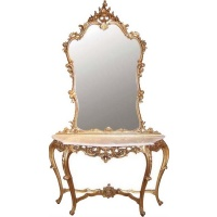Indonesia furniture manufacturer and wholesaler Gilt Console Table with Mirror