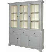 Indonesia furniture manufacturer and wholesaler Fayence 3 Door Glazed Bookcase