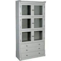 Indonesia furniture manufacturer and wholesaler Fayence 6 Door 3 Drawer Bookcase