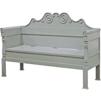 Indonesia furniture manufacturer and wholesaler Fayence Bench with Hinged Seat
