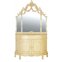 Indonesia furniture manufacturer and wholesaler Valbonne Swags Bows Overmantel Mirror
