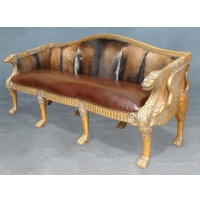 Indonesia furniture manufacturer and wholesaler Sofa lion 3 seaters