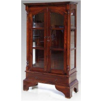 Indonesia furniture manufacturer and wholesaler cabinet 2 glass door 1 drawer