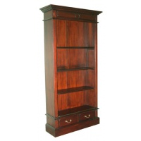 Indonesia furniture manufacturer and wholesaler open bookcase 2 drawer