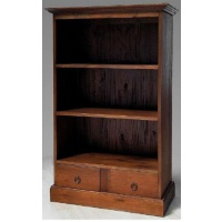 Indonesia furniture manufacturer and wholesaler open bookcase plain 2 drawer