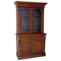 Indonesia furniture manufacturer and wholesaler victorian bookcase 2 door